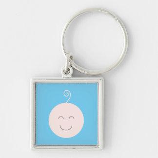 Blue Smile Baby Keychain