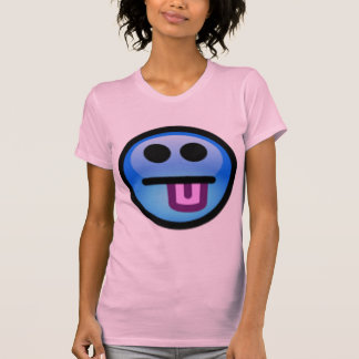 Blue Smiley Face with tongue sticking out. Fun! Tshirt