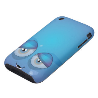 Blue Smiley iPhone 3 Tough Cover