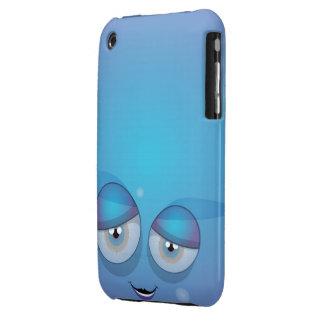 Blue Smiley iPhone Case iPhone 3 Case-Mate Case