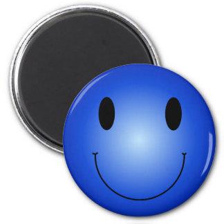 Blue Smiley Magnet