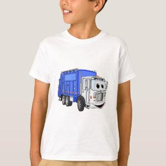 Blue Smiling Cartoon Garbage Truck Tshirt