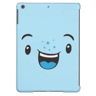Blue Smiling Kawaii Face Air Case iPad Air Cover