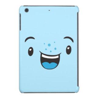Blue Smiling Kawaii Face Case iPad Mini Retina Case