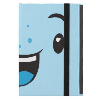 Blue Smiling Kawaii Face iPad Mini Case
