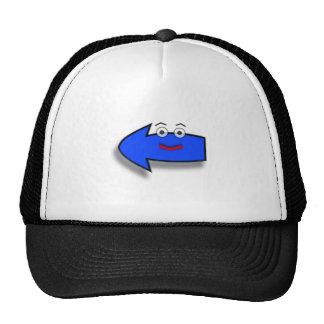 Blue Smiling Left Arrow Trucker Hat
