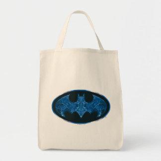 Blue Smoke Bat Symbol