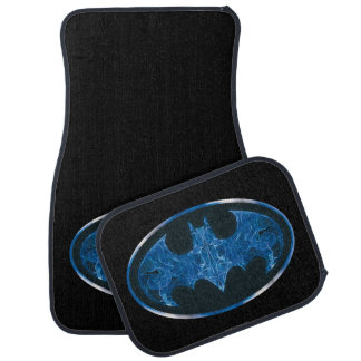 Blue Smoke Bat Symbol Car Mat