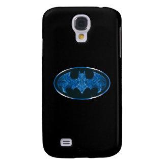 Blue Smoke Bat Symbol Galaxy S4 Case