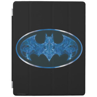 Blue Smoke Bat Symbol iPad Cover