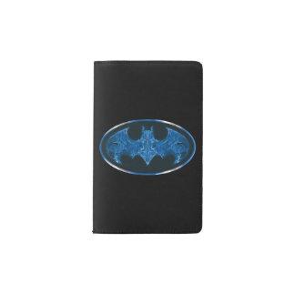 Blue Smoke Bat Symbol Pocket Moleskine Notebook