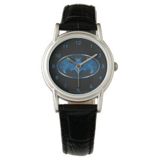 Blue Smoke Bat Symbol Watch