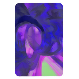 Blue Smoke Pastel Abstract Vinyl Magnet