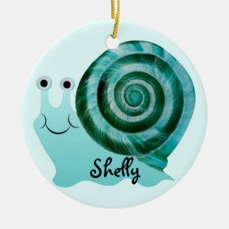 Blue Snail Christmas Ornament