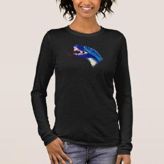 Blue Snake Head Long Sleeve T-Shirt