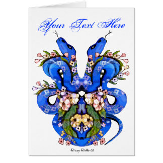 Blue Snake Tattoo Card