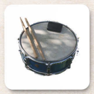 Blue Snare Drum Drumsticks and Muffler Coasters