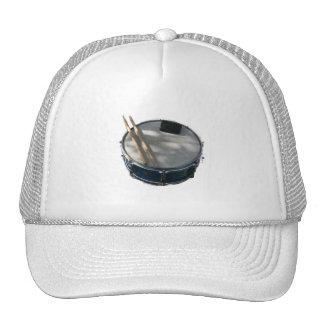 Blue Snare Drum Drumsticks and Muffler Mesh Hat