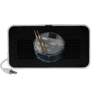 Blue Snare Drum Drumsticks and Muffler Speaker System