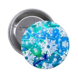 Blue Snow 6 Cm Round Badge
