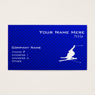 Blue Snow Skiing Business Card