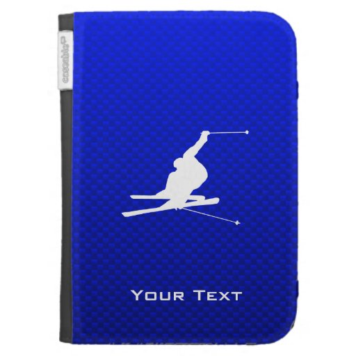 Blue Snow Skiing Cases For The Kindle