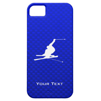 Blue Snow Skiing iPhone 5 Cases