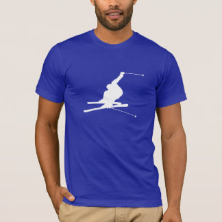 Blue Snow Skiing T-Shirt