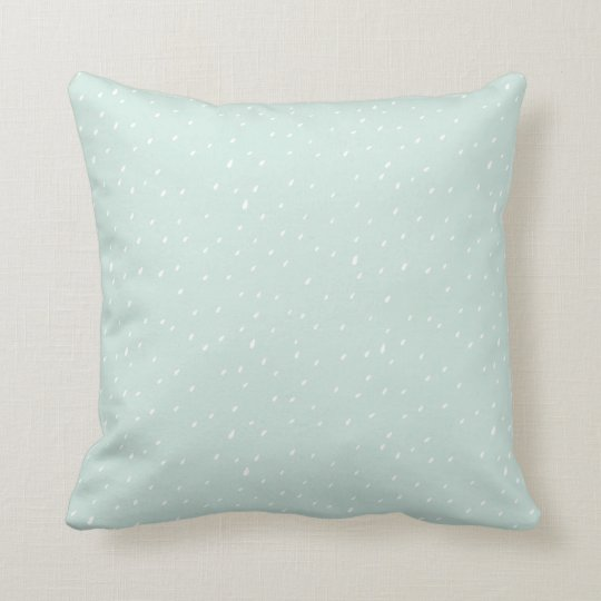 "Blue Snow Throw Pillow Cushion 16"" x 16"""