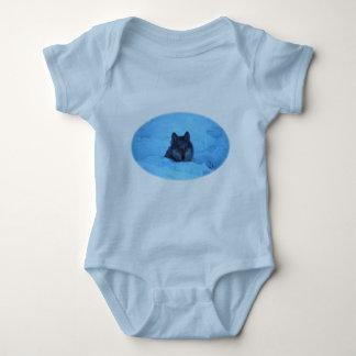 Blue Snow Timber Wolf Shirt