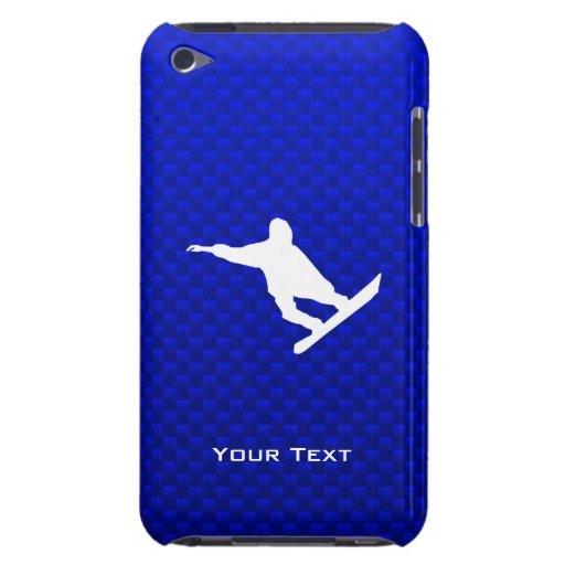 Blue Snowboarding iPod Touch Case