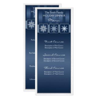 Blue Snowflake 10 Cm X 24 Cm Invitation Card