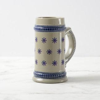 Blue Snowflake 22 oz. Stein Mug