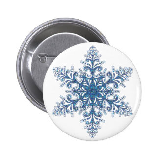 Blue Snowflake Button