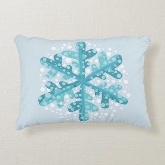 Blue Snowflake Christmas and Winter Decor Pillow