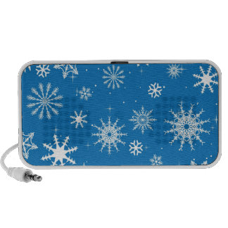 Blue Snowflake Christmas Design Portable Speakers