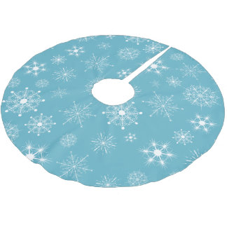 Blue Snowflake Christmas holiday Tree Skirt