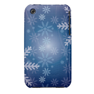 Blue Snowflake Christmas Pattern Case-Mate iPhone 3 Case