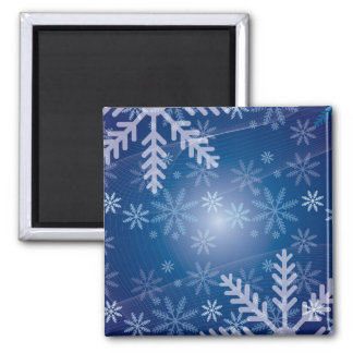Blue Snowflake Christmas Pattern Refrigerator Magnets