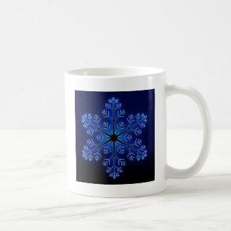 Blue Snowflake Coffee Mugs