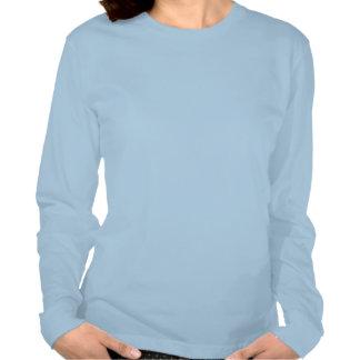 Blue Snowflake Fine Jersey Long Sleeves T-Shirt