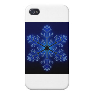 Blue Snowflake iPhone 4/4S Covers