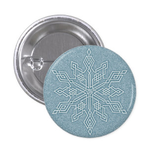 Blue Snowflake Knot Collection 3 Cm Round Badge