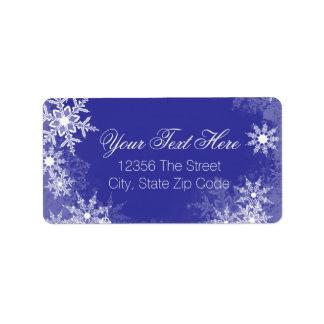 Blue Snowflake Label