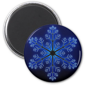 Blue Snowflake Magnets