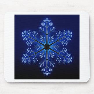 Blue Snowflake Mousepad