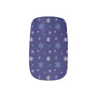 Blue Snowflake Nail Wrap