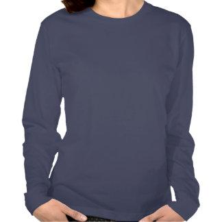 Blue Snowflake Navy Fine Jersey Long Sleeves Tee