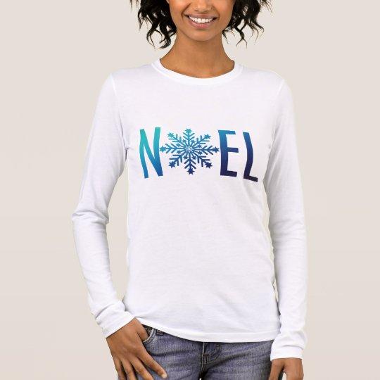 Blue Snowflake Noel Christmas Long Sleeve T-Shirt