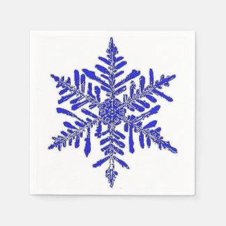 Blue Snowflake Paper Cocktail Napkin Disposable Serviettes